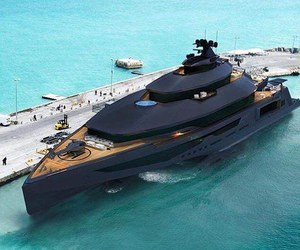 black, boat, and luxury image