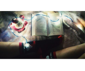 book, girl, and christmas image