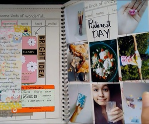 book, ideas, and scrapbook image