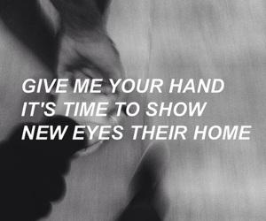 black and white, grunge, and Lyrics image