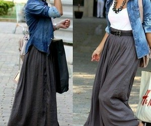 style, outfit, and skirt image