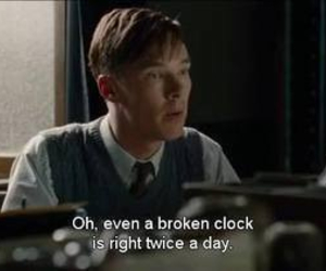 quote, clock, and movie image
