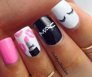 nails, mac, and pink image