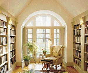 books, decorating, and home image