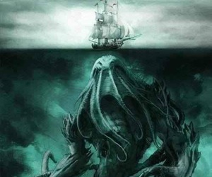 ocean, sea, and monster image