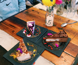 food, cake, and flowers image