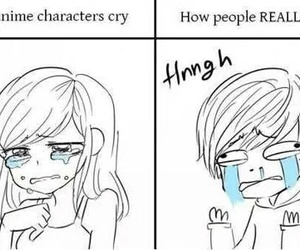anime, funny, and cry image