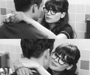 couple, kiss, and zooey deschanel image
