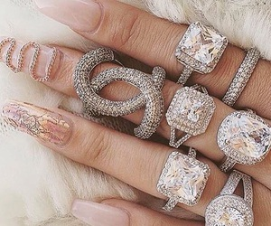 bling, diamonds, and nails image