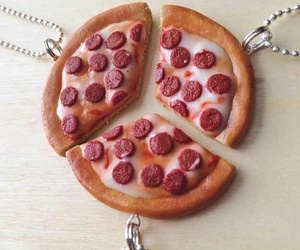 pizza, food, and necklace image