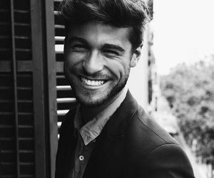black and white, smile, and cute image