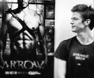 arrow, grant gustin, and the flash image