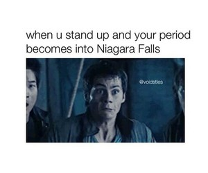 funny, period, and maze runner image
