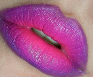 lips, pink, and purple image