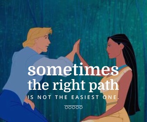 disney, path, and quote image