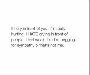 crying, feelings, and me image