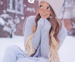 hair, rapunzel, and winter image