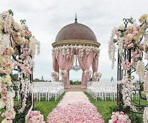flowers, ceremony, and wedding image