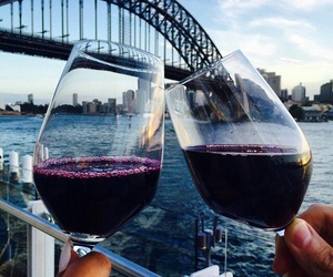 wine, couple, and drink image