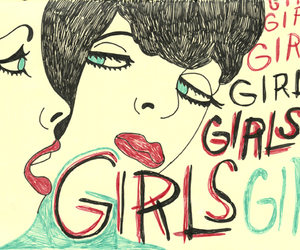 blue, girl, and girls image