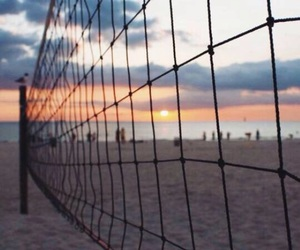 beach, sun, and voleibol image