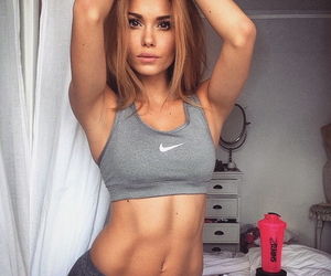 clothes, nike, and work out image