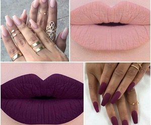 nails, lips, and lipstick image