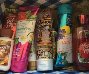 lotion, perfume, and bath & body works image