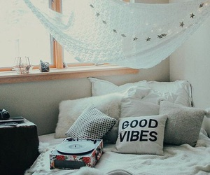bed, bedroom, and music image