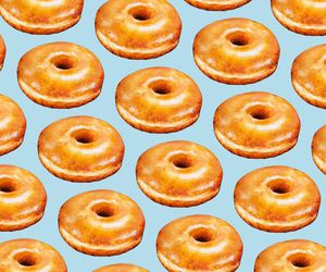 donut, pattern, and print image