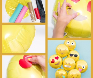 balloons, diy, and emoji image