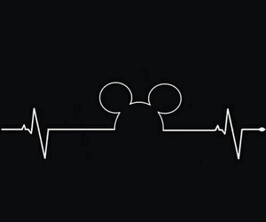 mickey, black, and disney image