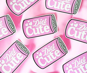 pink, diet coke, and soda image