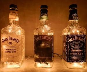 light, jack daniels, and whiskey image