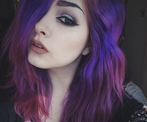 aesthetic, purple hair, and pastel hair image