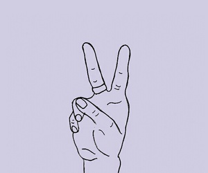hand, peace, and lockscreens image