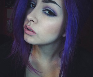 aesthetic, dyed hair, and purple hair image