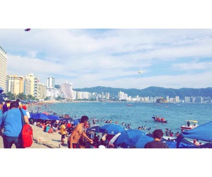 beach, acapulco, and 🌊 image