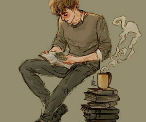books, harry potter, and remus lupin image