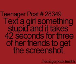 teenager post, screenshot, and stupid image