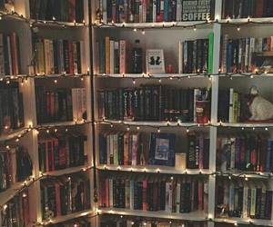 books, decoration, and room image