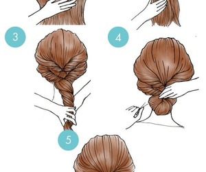 bun, Easy, and hairstyle image