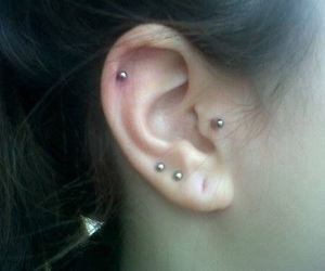 piercing, grunge, and ear image