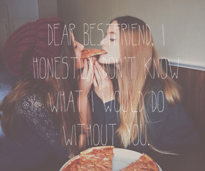 friendship, goals, and pizza image