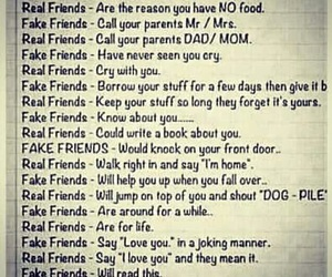 fake friends, the difference, and real friends image