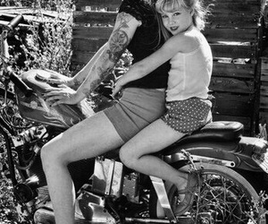 tattoo, Pin Up, and motorcycle image