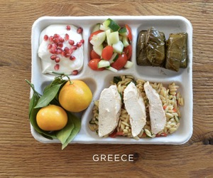 food, Greece, and lunch image