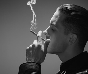 g-eazy, rapper, and black and white image