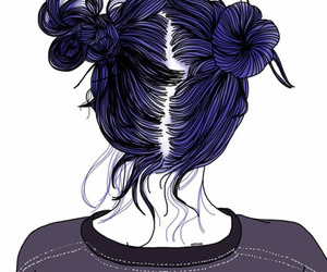 hair, grunge, and drawing image