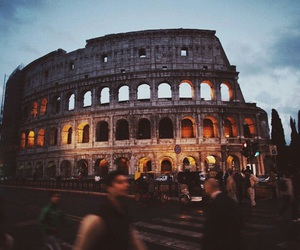 evening, rome, and lights image